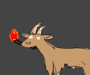 arsonist goat