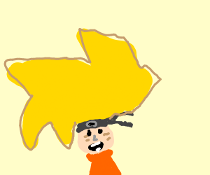 Naruto with slightly larger hair