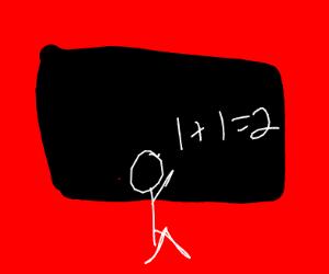 guy doing math on blackboard
