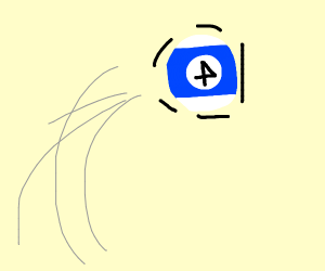 Backwards blue 4 trapped in cueball.