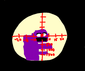 Sniper View Of Purple Man