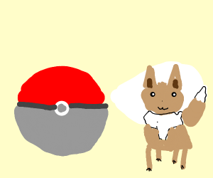 Eevee in Poké ball