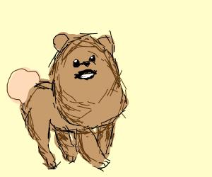 Pupper calling to mom doggo