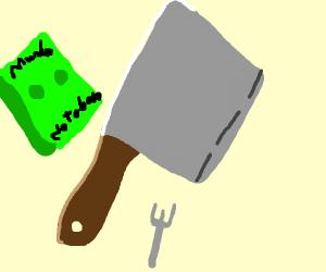a butcher's knife