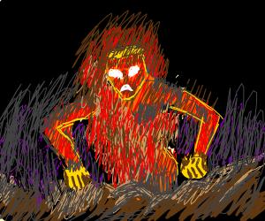 Te fiti (moana) is burning