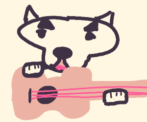 That dog with a guitar from animal crossing!!