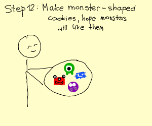 Step 11: Invite the monsters to a tea party