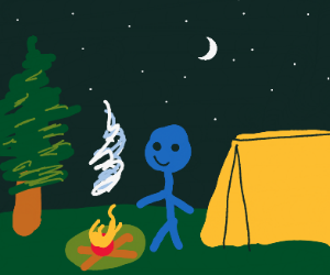 Stickman goes camping