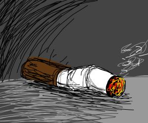 it's a rough sketch of a cigarette uwu