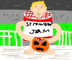 Halloween costume is jam