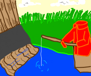 Shirt goes fishing