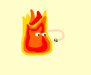 Fire looks at watch