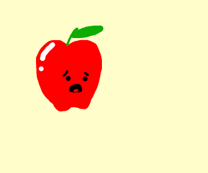 apple or tomato is disappointed