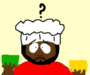 Chef from South Park can't choose which bowl