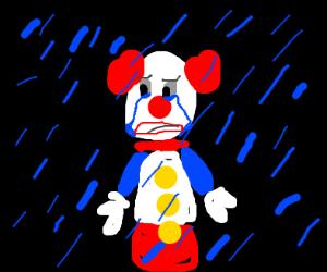 Sad Cow In The Rain