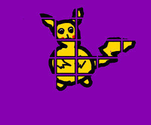 Pikachu but in pieces
