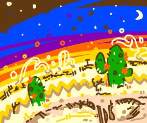 Desert with cacti
