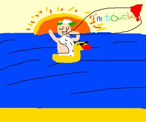 Zeus crossing the Ocean
