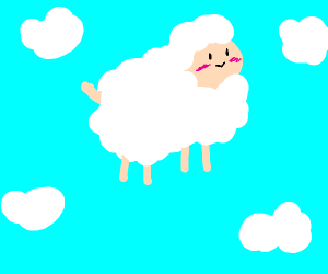 Floating Sheep In The Sky