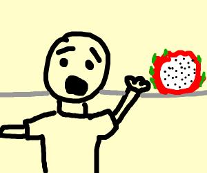 Dragonfruit terrorises young, uncoloured lad
