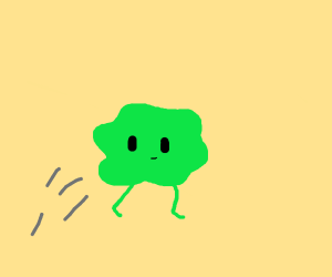 Jumping green thing