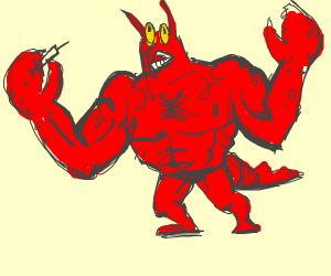 Larry the lobster is on steroids