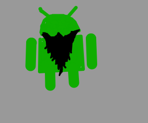 android phone mascot wit a beard
