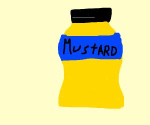 A bottle of mustard