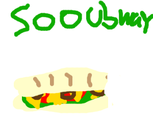 Subway sandwich with one bite out
