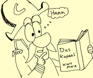 Captain Crunch reads a book