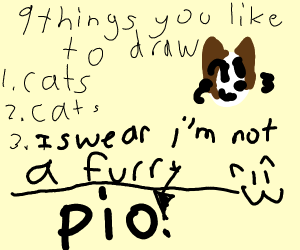 9 things you like to draw?