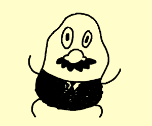 Mister Potato Head in a Fancy Outfit