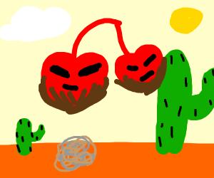 Hybrid cherry w/ beard in dessert desert