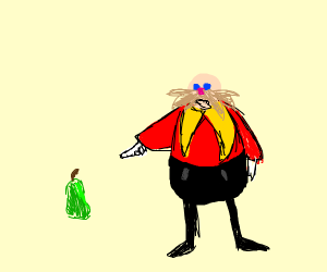 Dr eggman points at large pear