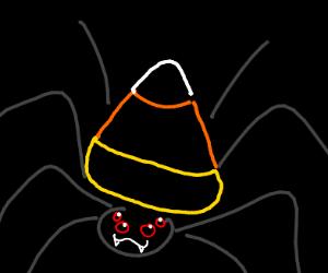 Candy corn spider