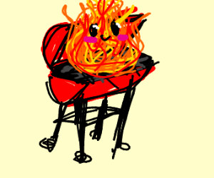 Happy grill fire