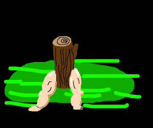 a log with sexy legs