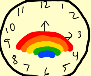 a rainbow in time
