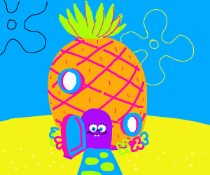 Who lives in a pineapple under the the sea?
