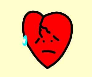 Broken actual heart