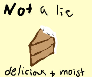 the cake is NOT a lie, it's delicious & moist