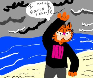 Garfield wants some lasagna