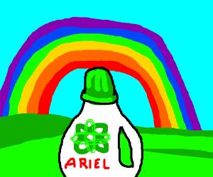 Ariel under a rainbow