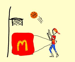 mcdonalds shootin' sum hoops
