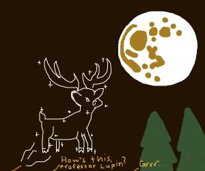 Harry's patronus in the light of a full moon