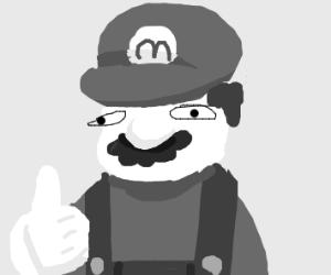 Mario in Grayscale