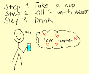 Taking steps to be fully hydrated