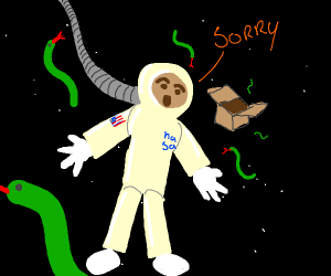 astronaut apologises for freeing space snakes