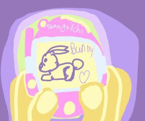 A Tamagotchi bunny