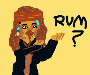 Jack sparrow asking about the rum